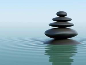 + Zen rocks in green water Aug 14 Blog 12432395_s
