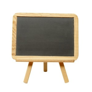 + blank chalkboard on easel May 12 12687020_s