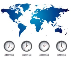 + time zones world map 6460431_s