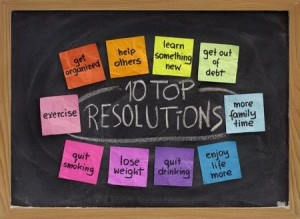 + Resolutions postit board 6181727_s