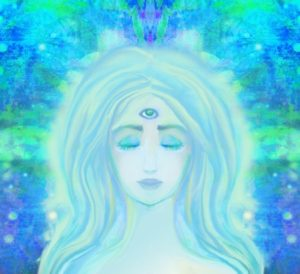 36154630 - woman with third eye, psychic supernatural senses