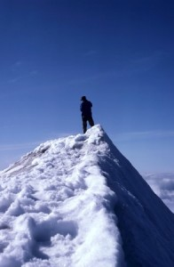 + man on snow pile March 15 blog 8227559_s