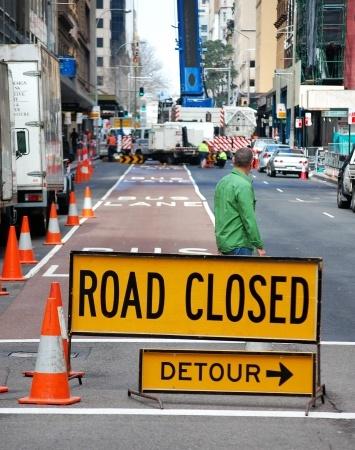 road closed - detour