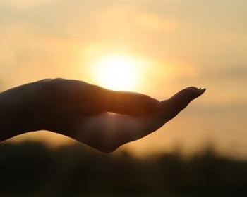 Holding the sun in your hand